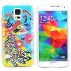 Husa de protectie Slim TPU pentru Samsung Galaxy S5, Peacock