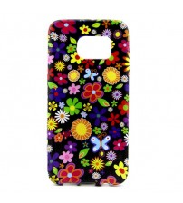 Husa de protectie Slim TPU pentru Samsung Galaxy S7 Edge, Flower
