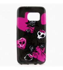 Husa de protectie Slim TPU pentru Samsung Galaxy S7, Skull