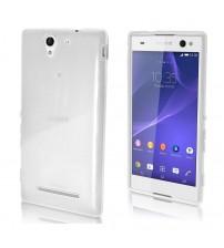Husa de protectie Slim TPU pentru Sony Xperia C3, Transparenta