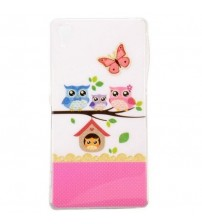 Husa de protectie Slim TPU pentru Sony Xperia Z2,  Owls House