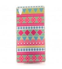 Husa de protectie Slim TPU pentru Sony Xperia Z2,  Pink Diamonds