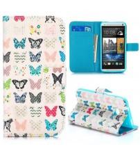 Husa de protectie tip carte pentru HTC One M7, Butterflies