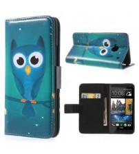 Husa de protectie tip carte pentru HTC One M7, Owl
