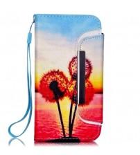 Husa de protectie tip carte pentru iPhone 6 / 6S,  Sky Flower