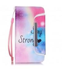 Husa de protectie tip carte pentru iPhone 6 / 6S,  Stay Strong