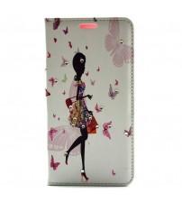 Husa de protectie tip carte pentru LG G4, Butterfly Girl