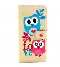 Husa de protectie tip carte pentru Samsung A3,  Owl