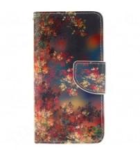 Husa de protectie tip carte pentru Samsung A5, Flowers