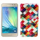 Husa de protectie tip carte pentru Samsung Galaxy A3, Colourful