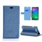 Husa de protectie tip carte pentru Samsung Galaxy Alpha,  Blue
