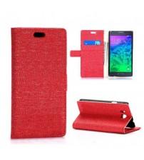 Husa de protectie tip carte pentru Samsung Galaxy Alpha,  Red
