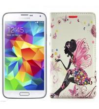 Husa de protectie tip carte pentru Samsung Galaxy S5, Fairy