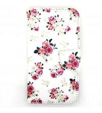 Husa de protectie tip carte pentru Samsung Galaxy S5,  Flower