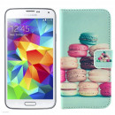 Husa de protectie tip carte pentru Samsung Galaxy S5, Macarons
