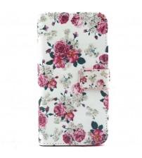 Husa de protectie tip carte pentru Samsung S6 Edge Plus,  Flowers