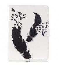 Husa de protectie tip carte pentru Samsung Tab 4 10.1 T530,  Feathers