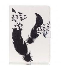 Husa de protectie tip carte pentru Samsung Tab 4 10.1 T530 / T535,  Feathers