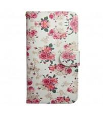 Husa de protectie tip carte pentru Sony Xperia Z3 Compact, Roses