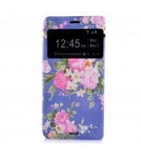 Husa de protectie tip carte pentru Sony Xperia Z3, Flowers
