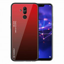 Husa Huawei Mate 20 Lite Gradient Glass, Red-Black