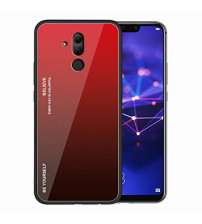 Husa Huawei Mate 20 Lite Gradient Glass, Red-Black