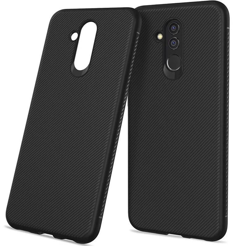 Husa Huawei Mate 20 Lite Gel TPU Fiber, Black - TemperedGlass.ro