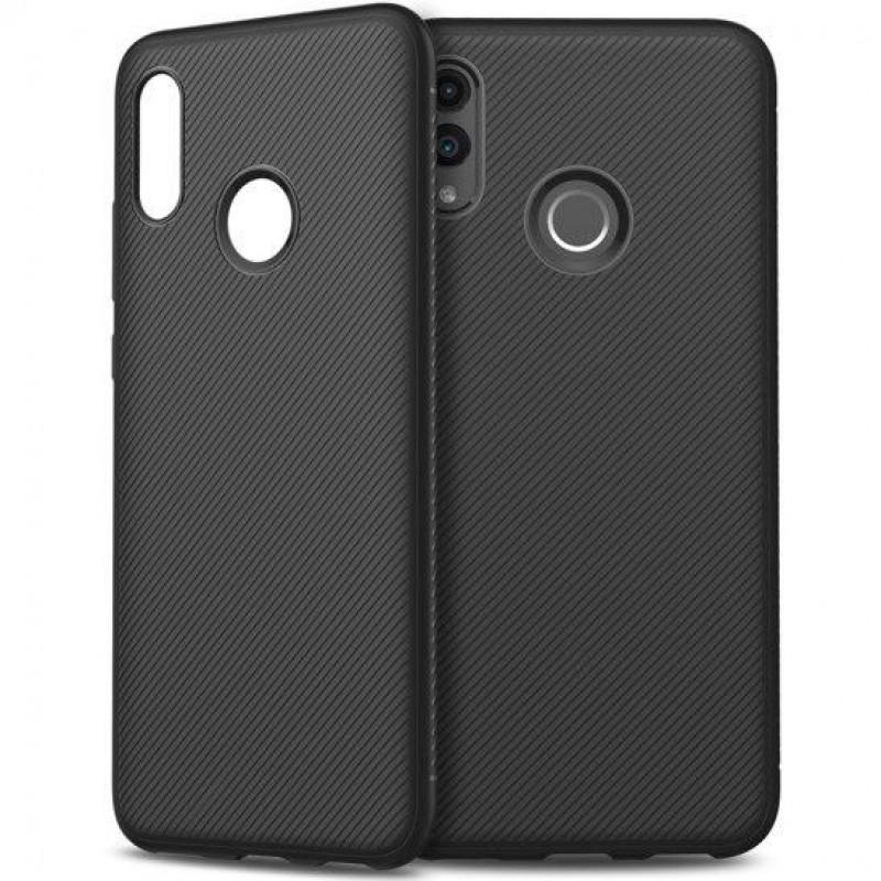 Husa Huawei P Smart 2019 Gel TPU Fiber, Black - TemperedGlass.ro