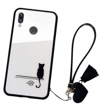 Husa Huawei P Smart 2019 Glass Back, Cat