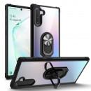 Husa Huawei P Smart 2019 Transparent Silver Ring, Black