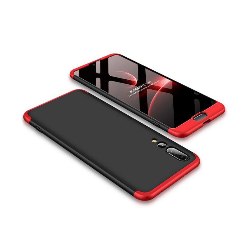 Husa Huawei P20 Pro GKK Full Cover 360, Black-Red - TemperedGlass.ro