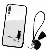 Husa Huawei P20 Pro Glass Back, Cat