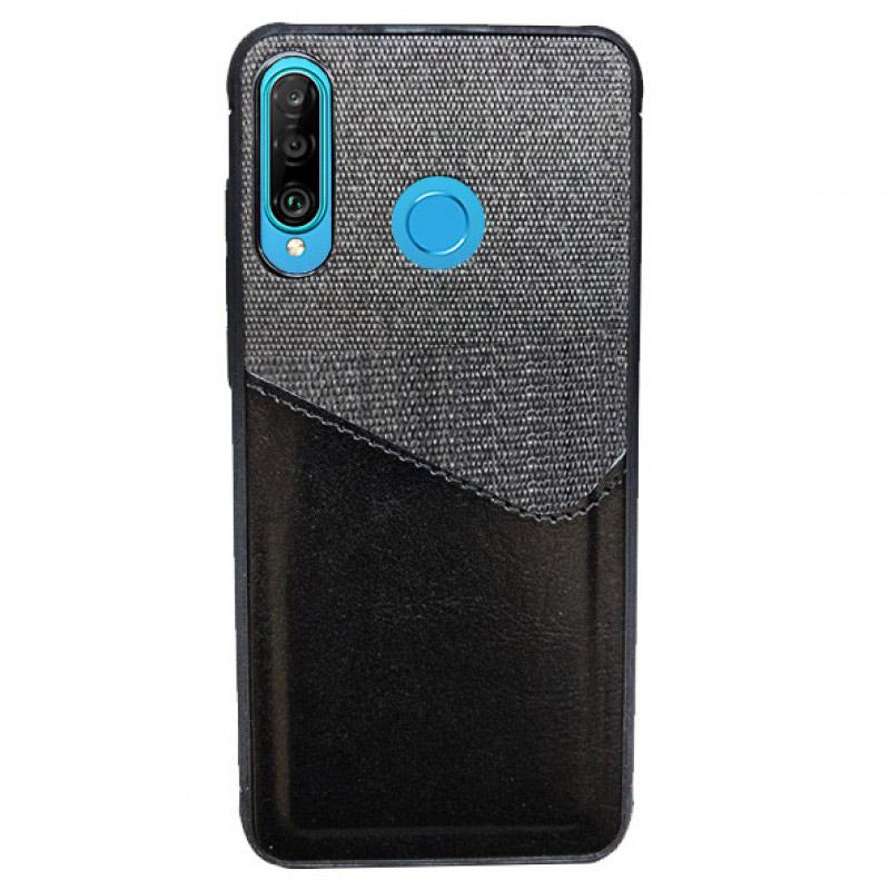Husa Huawei P30 Lite Card Pocket, Black - TemperedGlass.ro