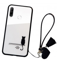 Husa Huawei P30 Lite Glass Back, Cat