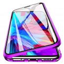 Husa Huawei P30 Lite Magnetic 360 (fata+spate sticla), Purple