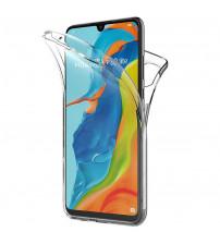 Husa Huawei P30 Lite TPU Full Cover 360 (fata+spate), Transparenta