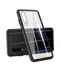 Husa Huawei P30, Magnetic Clear-Black