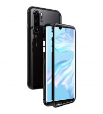 Husa Huawei P30 Pro 360 Magnetic, Clear-Black