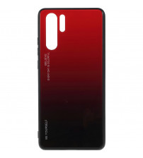 Husa Huawei P30 Pro Gradient Glass, Red-Black