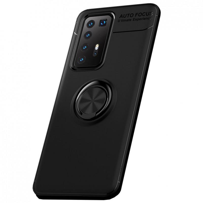 Husa Huawei P40 Pro Magnet Round Ring, Black - TemperedGlass.ro