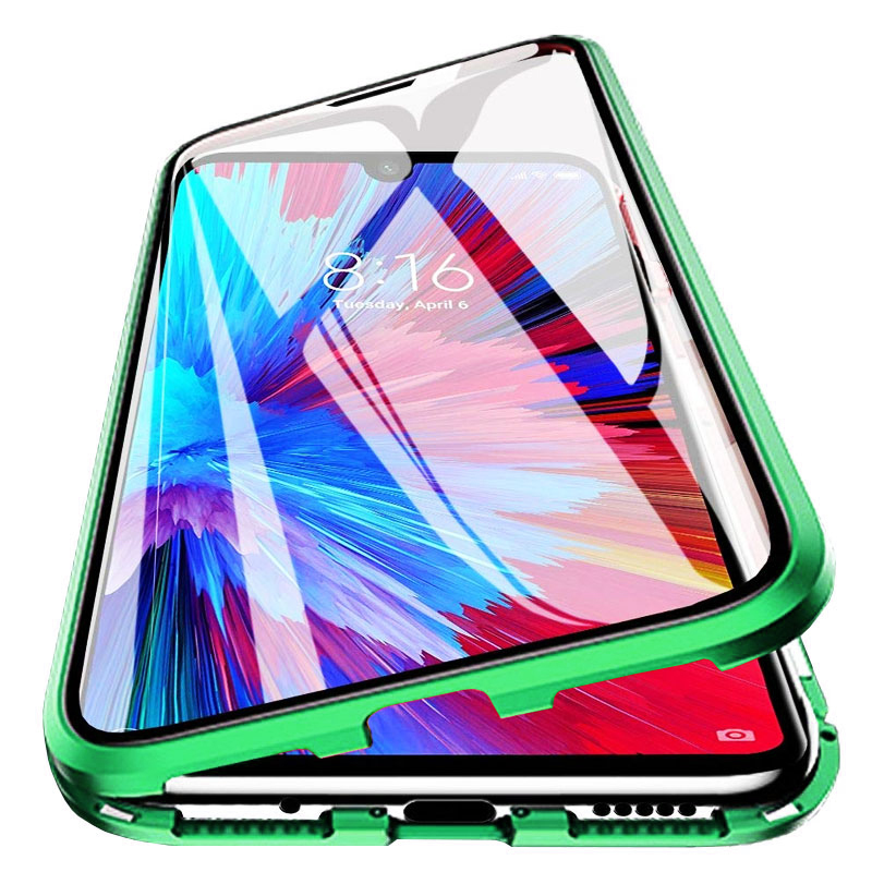 Husa Huawei P40 Pro, Magnetic 360 (fata+spate sticla), Green