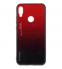 Husa Huawei Y6 2019 Gradient Glass, Red-Black