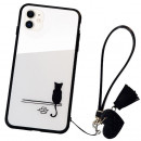 Husa iPhone 11 Glass Back, Cat