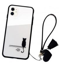 Husa iPhone 11 Glass Back, Cat
