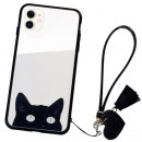 Husa iPhone 11 Glass Back, Cat Eyes
