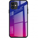 Husa iPhone 11 Gradient Glass, Blue-Purple