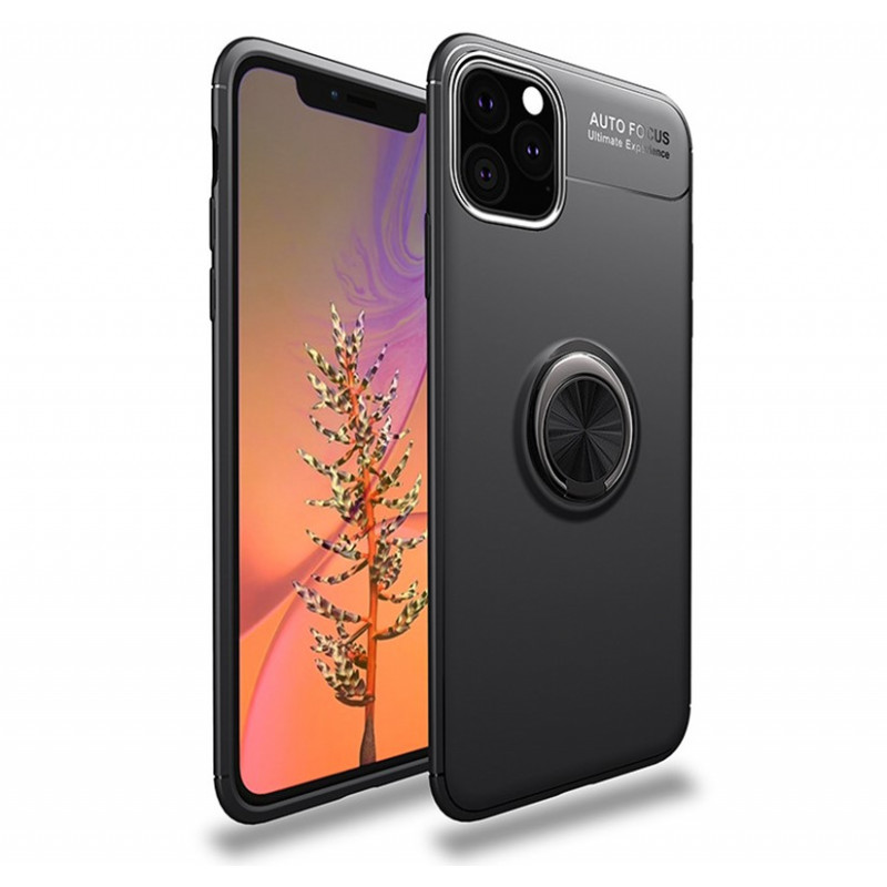 Husa iPhone 11 Magnet Round Ring, Black - TemperedGlass.ro