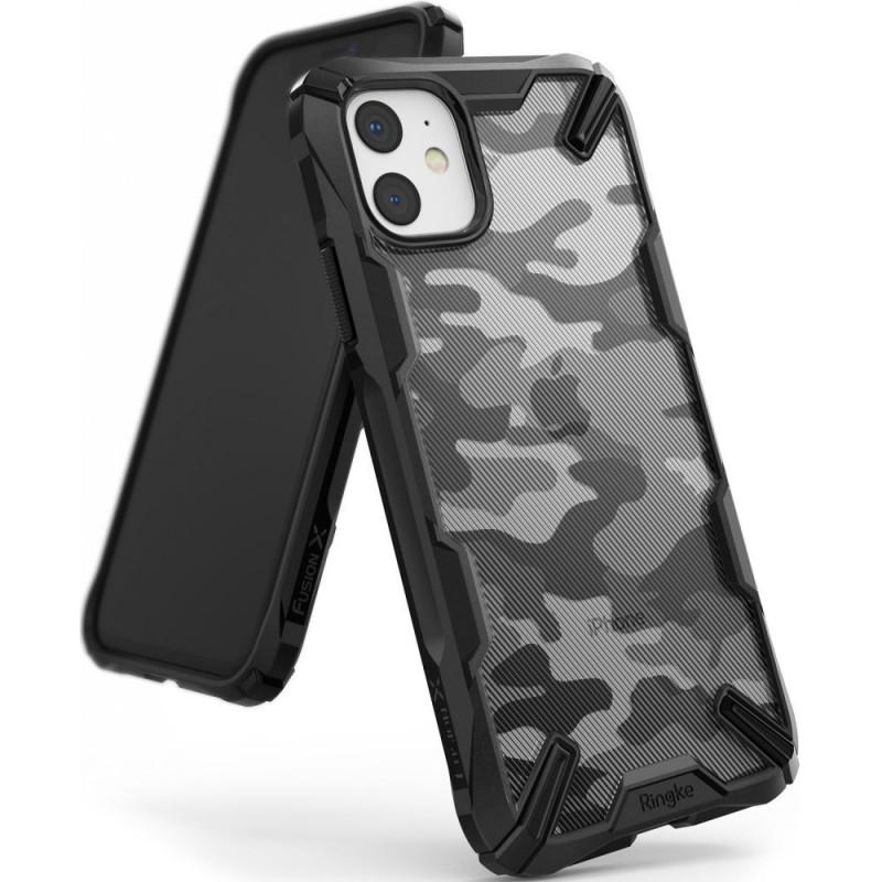 Husa iPhone 11 originala RINGKE Fusion X Camo, Black