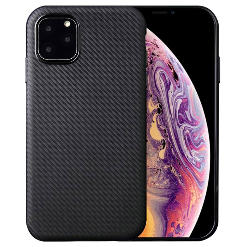 Husa iPhone 11 Pro Max Gel TPU Fiber, Black