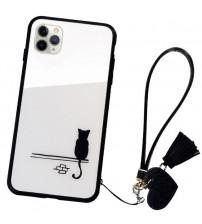 Husa iPhone 11 Pro Max Glass Back, Cat